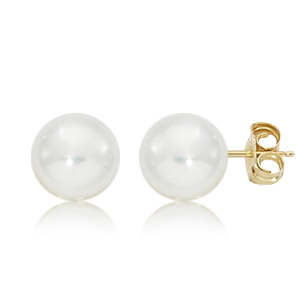 14KG 8MM PEARL STUD picture
