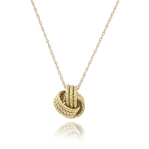 14KG 18″ Twisted Love Knot Necklace picture
