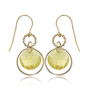 Oro Verde Double Drop Twist Circle Earrings picture