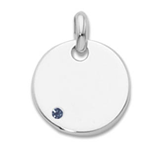 Round Tag With Birthsone Pendant picture
