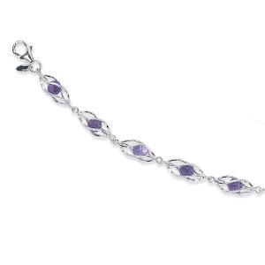 4MM Amethyst Cage Bracelet picture