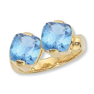14KY 2-8MM CUSH BLUE TOPAZ-SWISS picture