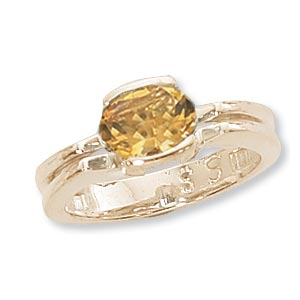 14KY OVAL RING-CITRINE picture