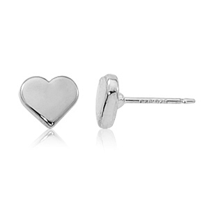 SS 8MM FLAT HEART STUD picture