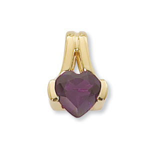 14KY 8MM HEART PNDNT-AMETH picture