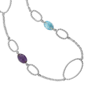 Twisted Ovals with Faceted Stones picture