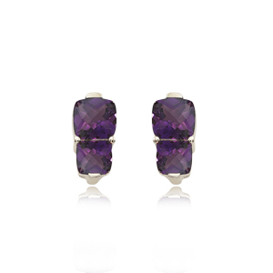 14KY 10 & 8MM AMETHYST picture