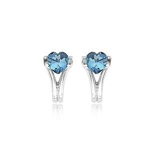 14KW 2 HEART-BLUE TOPAZ picture