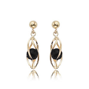 Onyx Cage Earrings with Ball Top picture