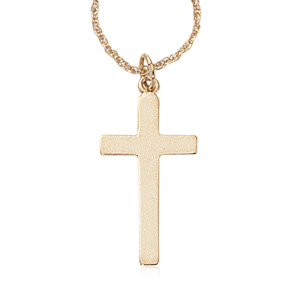 Cross on 18' Chain image: 14KG PLAIN CROSS/CHAIN