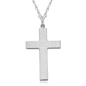 Lord's Prayer Cross image: 14KWG CROSS/LORDS PRAYER