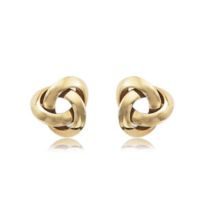 Knife edge Love Knot Studs picture