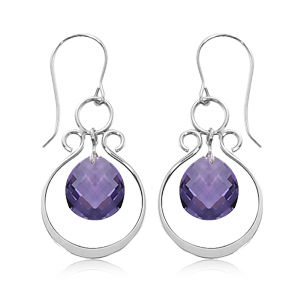 Valencia Drop with Amethyst image: SS VALENCIA DROP/AMETHYST