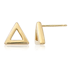 14KG 8MM OPEN TRIANGLE STUD image