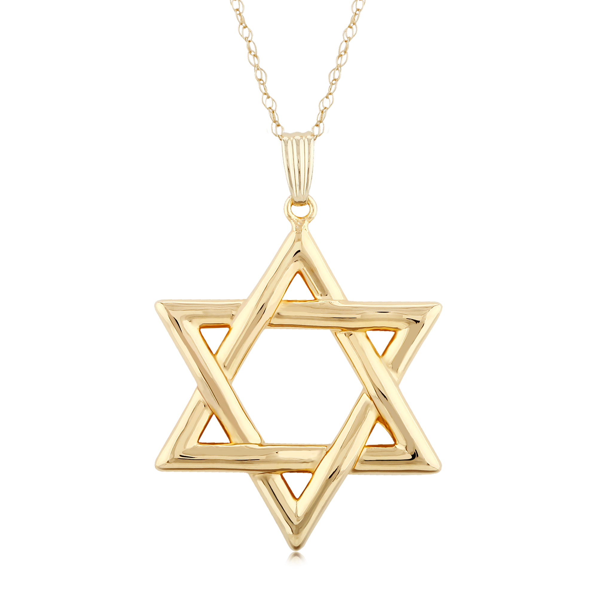 14KG LARGE STAR OF DAVID PENDANT image