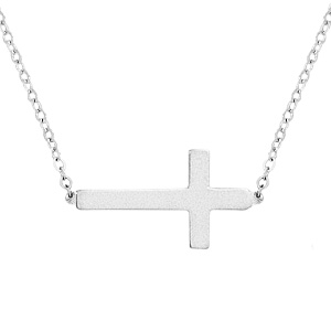 SS PLAIN CROSS NECKLACE picture