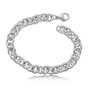 Heavy Cable Bracelet image: SS SGL HEAVY CABLE 7.5IN