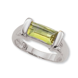 Baguette Peridot Ring picture