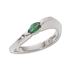 Marquis Emerald Ring image: 14KW 6X3 MQ EMERALD