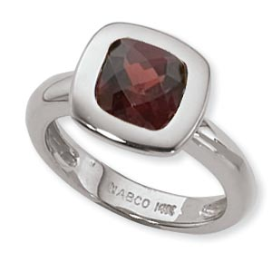 SS 8MM FAC CUSHION GARNET image