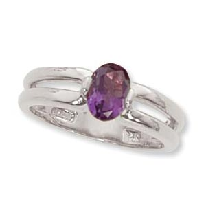 SS 7X5 OVAL RING-AMETH image