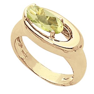 14KY 10X5 OVAL ORO VERDE picture