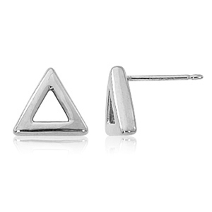 SS 8MM OPEN TRIANGLE STUD image