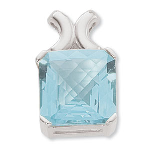 SS 14MM CHECKERB CUSHION-BLUE TOPAZ image