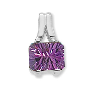 SS AMETHYST 10X8 CONCAVE EMERALD CUT image