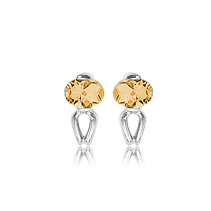 SS (2) OVALS-CITRINE picture